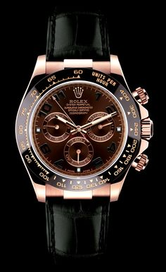 rose gold rolex chrono