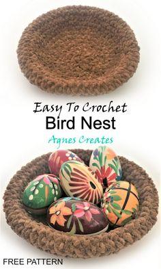Nesting Chicks Free Crochet Pattern - Agnes Creates Crochet Birds, Easter Crochet, Crochet Hooks, Free Crochet, Afghan Crochet Patterns, Knitting Patterns, Yarn Tail, Learn To Crochet, Craft Patterns