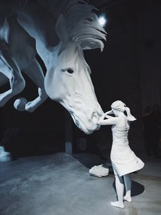 "night-man-jon-gasca: ""The horse problem, by Claudia Fontes. Argentina Pavilion at Venice Biennale. Photo: Jon Gasca """