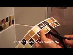 Pastilha adesiva Savor   Marrom + Dourado banheiro
