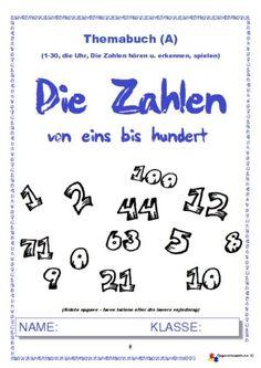 Tysk – Die Zahlen von 1 bis 100 – Heft A – opgavemappen.NU – 1.3 Danish Language, Co Teaching, Thing 1, German, Math Equations, School, Historia, Learn German, Numbers