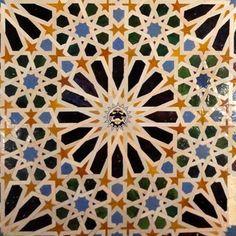 Alhambra tile design by sierragoddess, via Flickr