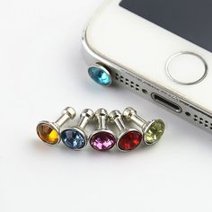 Westsell 5 piece Universal Diamond Dust Plug Mobile Phone accessories gadgets Earphone enchufe del polvo Plugs For iPhone 5 6 -- Check this awesome product by going to the link at the image. (This is an affiliate link) Plugs, Telephone Iphone, Bluetooth, Dust Plug, Phone Gadgets, Electronics Gadgets, Tech Gadgets, Usb, New Phones