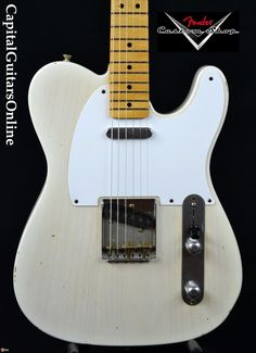 2008 Fender Custom Shop Master Built 50's Telecaster Relic Mary Kay White > Guitars : Electric Solid Body - Capital Guitars
