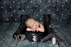 San Antonio newborn photographer, newborn police baby, police baby, police photography, officer newborn