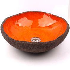 dodatki - łazienka-umywalka pomarańczowa laguna