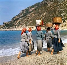 Women walking in Ermones beach, Corfu island, Ionian sea, Greece Corfu Greece, Athens Greece, Greece History, Corfu Island, Ancient Greece, Artistic Photography, Vintage Photographs, Geology, The Past