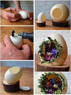 Creative Egg-Shell Crafts'