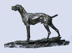 German Wirehaired pointer, 2012. Bronze, 30x60x25