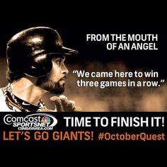 """Angel Pagan - """"We came here to win three games in a row."""""""