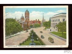 """Fountain Square Chattanooga, Tennessee """"Along the Dixie Highway"""""""