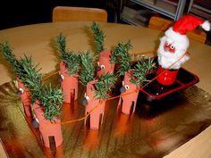 kerstman + rendieren van wc-rolletjes e.a.