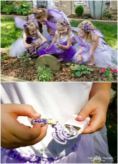 Flower Fairy Party by The Party Teacher - scavenger hunt and fairy dust necklaces