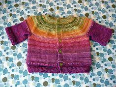 handspun & hand knit baby sweater by yarnbee