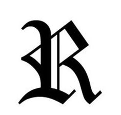 Old English Lettering - Letter R - Car Tablet Vinyl Decal Gothic Lettering, Gothic Fonts, Lettering Design, Gothic Text, Lettering Styles, Old English Font Tattoo, Letter R Tattoo, Gothic Alphabet, Letras Tattoo