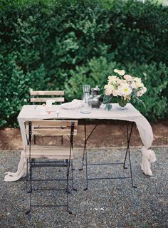 Cafe Table for Wedding | photography by http://www.michaelandcarina.com