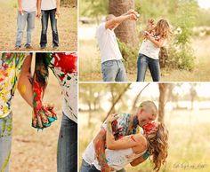Paint fight engagement session | Melissa & Ken | Two Birds One Stone Wedding {Abilene, TX Wedding Photographer}