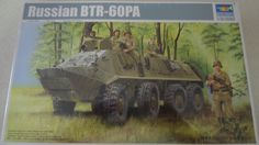 Russian BTR-60PA. Made by Trumpeter in 1/35 scale. The BTR-60 is the first vehicle in a series of Soviet eight-wheeled armored personnel carriers. It was developed in the late 1950s. BTR-60PA entered service with the Soviet Army in 1963. Kit features surface details and interior, one-piece lower and upper hull, separately molded upper hull hatches, …