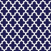 Navy Blue Moroccan - jenniferstuartdesign - Spoonflower