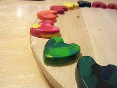 Homemade crayons - cute to give for valentine's instead of candy!