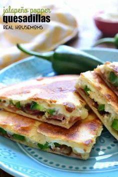 POPPER QUESADILLAS have all the flavors of jalapeño poppers in a fun package that's perfect for dipping! These little bites make a delicious summer appetizer and can also double as a meal! Mexican Dishes, Mexican Food Recipes, Milk Recipes, Tostadas, Quesadilla Maker Recipes, Jalapeno Recipes, Bacon Recipes, Fast Recipes, Tacos And Burritos