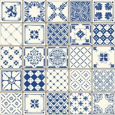 Indigo Blue Flower Azulejos Pattern Lisbon Set Paint Tile Floor Oriental Spain Collection Seamless Pattern Portugal Geometric Ceramic Design Tile Vintage Illustration background Vector Texture Pattern by carmela Patchwork Tiles, Patchwork Patterns, Tile Patterns, Textures Patterns, Texture Seamless, Tiles Texture, Keramik Design, Painting Tile Floors, Wall Ornaments