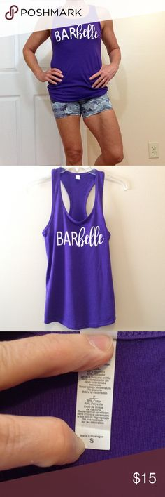 """🆕 'Barbelle' racerback tank You know if you need this one ... ☺️ a beautiful purple!  26"""" ↕️ 16"""" ↔️ armpits Tops Tank Tops"""