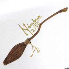 Nimbus 2000 2001 Broomstick Drawing Harry Potter Quidditch Illustration