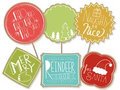 Free printable Christmas food labels from Smilebox.  http://smilebox.co/1bAFgEC  Create festive labels for cookie tins and other treats. Add text, choose a label shape, and print onto sticker paper or card stock. #christmas #freeprintable