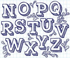Hand drawn font - shaded letters and decorations, 29822, Design elements, Download, Royalty free, Vector, eps, clipart, jpg, images, clip art, graphics