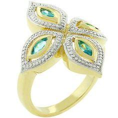 Aqua Luxe Ring in Gold