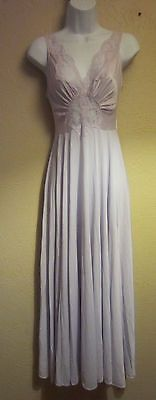 Vtg Women's M Olga Bodysilk 9687 Lilac Nightgown Grand Sweep Purple Butterfly in Clothing, Shoes & Accessories | eBay