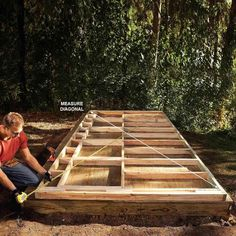 Be Precise With Shed Floor & Walls - DIY Storage Shed Building Tips: http://www.familyhandyman.com/sheds/diy-storage-shed-building-tips#4