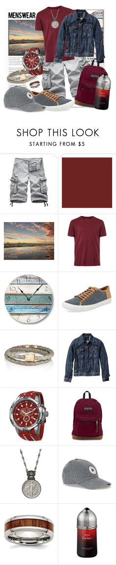 """""""Men's Wear"""" by prettyinjewels ❤ liked on Polyvore featuring Topman, Donald J Pliner, MIANSAI, Old Navy, Joshua & Sons, JanSport, American Coin Treasures, Cartier, men's fashion and menswear"""