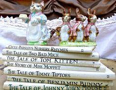 Set of Seven Beatrix Potter Children's Books Two by mybonvivant, $49.00