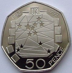 50p - Single European Market 1992 Large Size