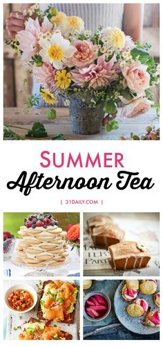 A Summer Tea should be delicious with summer flavors, beautiful with summer florals, and very doable. In fact, it should be so easy that anyone could you host a Summer Afternoon Tea. See recipes, floral ideas, inspirations and more. An Easy Summer Afternoon Tea Anyone Can Host | 31Daily.com #afternoontea #summer #summerentertaining #outdoordining #31Daily