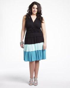 color block dress   Shop Online at Addition Elle Addition Elle Summer On the Road Contest