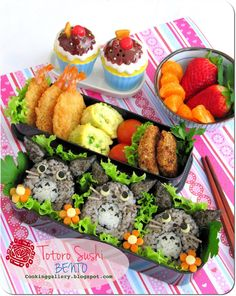 wow sushi bento really nice #food #child #unique