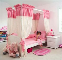 Canopy Beds With Curtains ceiling mounted bed curtains | bed curtains, ceiling and canopy