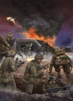 9th Battalion of the 6th Airborne Division attacking the Merville Battery in the night before the Allies assault on D-Day.