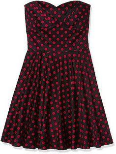 UK UK XL, Schwarz (black/red B/ah), Dolly and Dotty Women's Melissa Casual Cloth