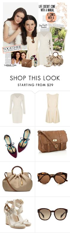 """""""Mother & Daughter"""" by violetta-valery ❤ liked on Polyvore featuring Boden, Accessorize, Michael Kors, Illesteva, WALL, Burberry and Prada"""
