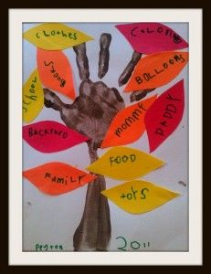 Thankful Trees~kids craft