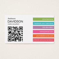 Bright bar qr code social media business card pinterest bright bars 2 qr code social media business card fbccfo Image collections