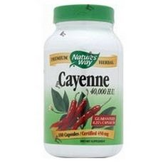 Natures Way Cayenne Pepper, 450mg 100 Capsules by Nature's Way, http://www.amazon.com/dp/B00196T640/ref=cm_sw_r_pi_dp_0DWgrb0Y428JS