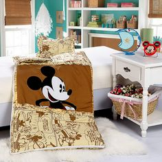 Mickey Mouse Yellow Disney Sleeping Bag Sets