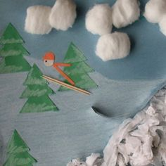 Olympic activities and winter Olympic games are such fun indoor winter activities. Whether you're looking for a great Kids Olympics birthday party theme… Winter Crafts For Kids, Winter Fun, Winter Theme, Art For Kids, Kids Olympics, Winter Olympics, Vive Le Sport, Theme Sport, Olympic Crafts