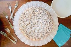 Overhead vertical image of French Almond Cake.