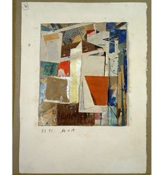 Kurt Schwitters -  Mz x 19, 1947; collage, oil, paper, and cardboard on cardboard; 6 1/8 x 5 1/4 in.; Collection of Ellsworth Kelly.